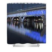 Tempe Light Rail Bridge Shower Curtain