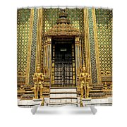 Temple In Grand Palace Bangkok Thailand Shower Curtain