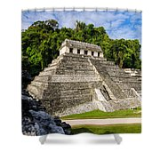 Temple Of Inscriptions Shower Curtain