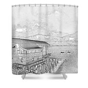 Tenby Lifeboat Station Shower Curtain