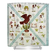 Tenochtitlan (mexico City) With Aztec Shower Curtain