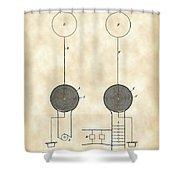 Tesla Electric Transmission Patent 1900 - Vintage Shower Curtain