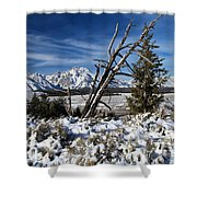 Tetons In The Distance Shower Curtain