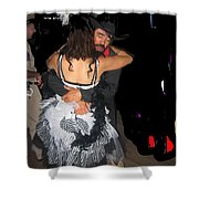 Texas Cyclone Homage Hispanic Dancers Crystal Palace Saloon Tombstone Arizona 1932-2004 Shower Curtain