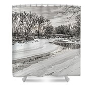 Thames River  Shower Curtain