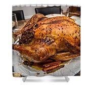Thanksgiving Turkey Dinner Shower Curtain