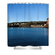 Thatched Cottages, Dunmore Strand Shower Curtain