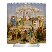 The Age Of Augustus The Birth Of Christ Shower Curtain