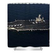 The Aircraft Carrier Uss John C Shower Curtain