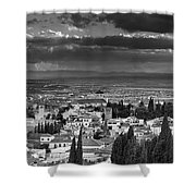 The Alhambra And Albaycin In Granada Shower Curtain