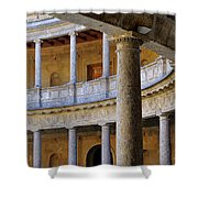 The Alhambra Palace Of Carlos V Shower Curtain by Guido Montanes Castillo