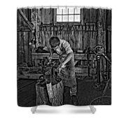 The Apprentice Monochrome Shower Curtain by Steve Harrington