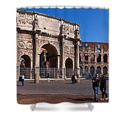 The Arch Of Constantine And Colosseum Shower Curtain