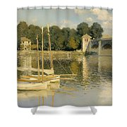 The Argenteuil Bridge Shower Curtain