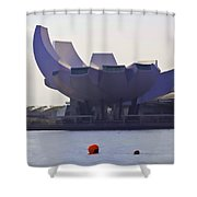 The Artscience Museum In Singapore Shower Curtain