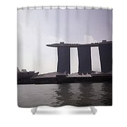 The Artscience Musuem And The Marina Bay Sands Resort In Singapore Shower Curtain
