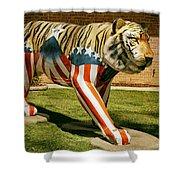 The Auburn Tiger Shower Curtain