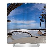 The Beach At Hunting Island State Park Shower Curtain