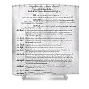 The Bill Of Rights H K Shower Curtain