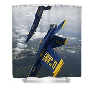 The Blue Angels Perform A Looping Shower Curtain