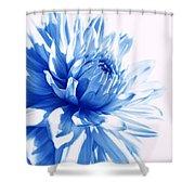The Blue Dahlia Flower Shower Curtain