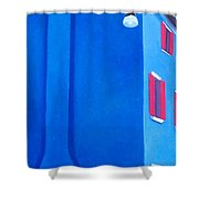 The Blue House Burano Shower Curtain