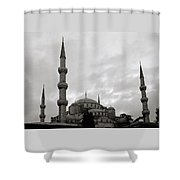 The Blue Mosque Shower Curtain