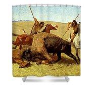 The Buffalo Hunt Shower Curtain
