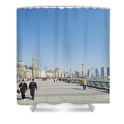 The Bund In Shanghai China Shower Curtain