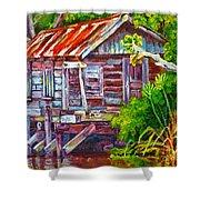 The Camp Bayou Shower Curtain