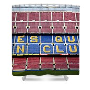 The Camp Nou Stadium In Barcelona Shower Curtain