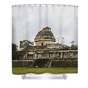 The Castillo In Chichen Itza Shower Curtain