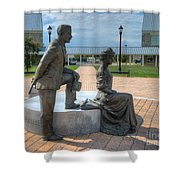 The Catherine And Milton Hershey Statue Shower Curtain
