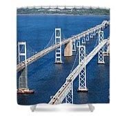 The Chesapeake Bay Bridge Shower Curtain