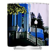 The Church Steps Shower Curtain