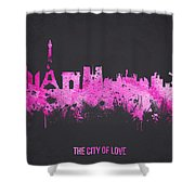 The City Of Love Shower Curtain