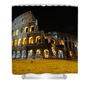 The Colosseum At Night Shower Curtain