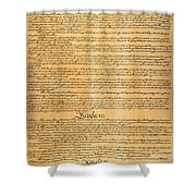 The Constitution, 1787 Shower Curtain