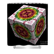 The Cube 12 Shower Curtain