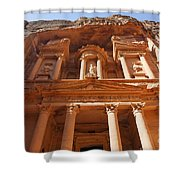 The Facade Of Al Khazneh In Petra Jordan Shower Curtain by Robert Preston