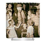 The Famous Clown Emmett Kelly 1956 Shower Curtain