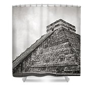The Famous Kulkulcan Pyramid At Chichen Itza Shower Curtain