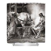 The Farrier, From Etudes De Cheveaux Shower Curtain