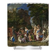 The Feast Of The Gods Shower Curtain