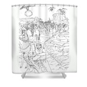 The Fifty Marshals Shower Curtain