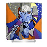 The Flutist Shower Curtain