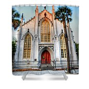 The French Huguenot Church Shower Curtain