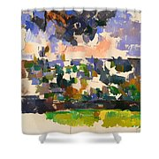 The Garden At Les Lauves Shower Curtain