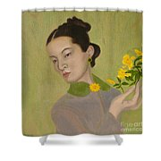 The Golden Kiss Of Spring Shower Curtain