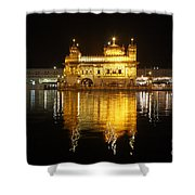 The Golden Temple At Amritsar At Night Shower Curtain
